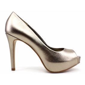 Sapato Peep Toe Feminino Divalesi Couro 86040 Loja Pixolé