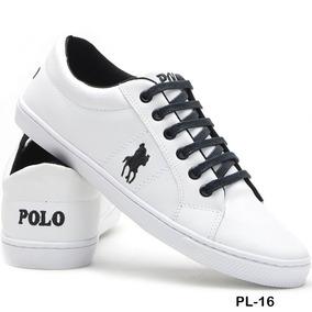 Sapatenis Tenis Masculino Polo Plus Original Couro Eco Promo