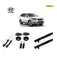 4 Amortecedores + Kits Batentes Hyundai Santa Fé Ano 10/13