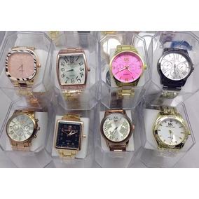Kit 10 Relógio Feminino Mk Elegante Atacado + Caixinhas