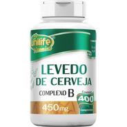Levedo Levedura De Cerveja 450 Mg 400 Comprimidos Unilife