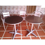 Mesa De Aluminio Hilton Redonda Comedor Cafetería
