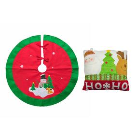 Combo Cojin Y Pie De Arbol Hoho Navidad - Comb Hoho