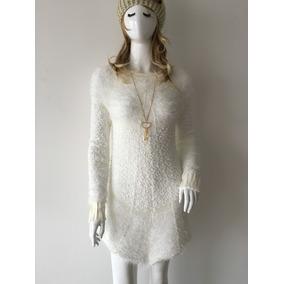 Vestido Feminino Frio Manga Longa Tricot Importado P/m G/gg