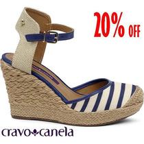20%off Sandália Anabela Cravo & Canela Marinheira 140001