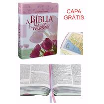 Bíblia Sagrada Almeida De Estudo Mulher Media + Capa