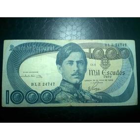 Antiga E Rara Cédula De Portugal 1000 Escudos 1968 #0070