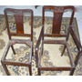 Antiga Madeira Jacarandá 5 Cadeiras Talas- Cutelaria-escala