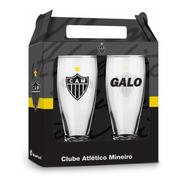 Copo Tulipa Taça Clube Atletico Mineiro Com 2 Unidades Galo