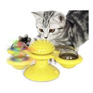 Brinquedo Giratorio Para Gato Com Ventosa Luz E Catinip