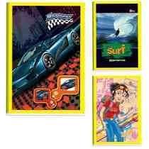 Cx C/80- Caderno Brochura 60 Folhas Sem Pauta Frete Grátis