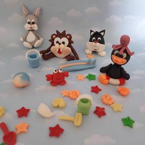 Souvenirs Looney Toons Porcelana Fría. Adorno De Torta