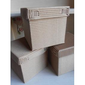 Caja De Carton Corrugado Cubo 10 Cm Recuerdos Dulces
