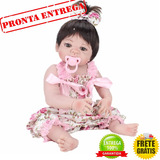 Bebê Reborn Silicone Promoção Menina 55 Cm Pronta Entrega