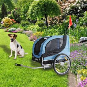 Bicicletas Mascotas Trailer Perro Portador Plegable Malla...