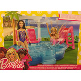 Pileta Con Tobogán Barbie Mattel