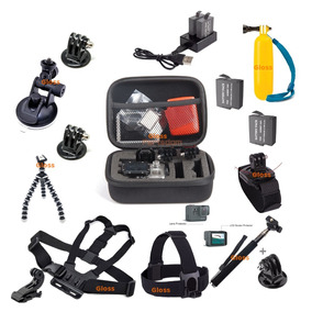 Kit Gopro Hero Acessórios Go Pro 5 6 Black Película Bateria