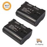 2 X Batería En-el15 Para Nikon D7100 D7000 D600 Enel15...