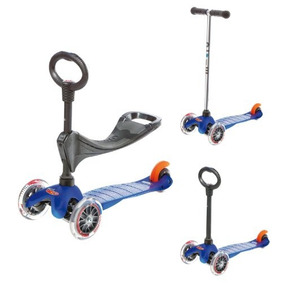 Patinete Micro Mini 3-en-1, Azul