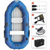 Bote Inflable 3m Aquamarina 4 Personas Pesca Espejo Inflador