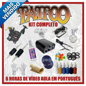 Kit Tattoo 1 Máquina Tatuagem Híbrida Profissional E Vídeo