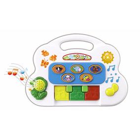 Piano Teclado Bebê Musical Fazendinha - Som E Luz - Braskit