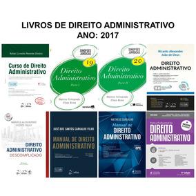 Combo: 8 Livros De Direito Administrativo Ano 2017