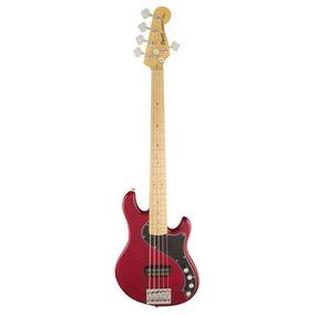 Baixo 5 Cordas Squier Deluxe Dimension V 538 - Crimson Red T