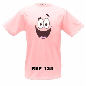 Camiseta Patrick Bob Esponja Blusa Manga Curta