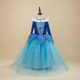 Fantasia Importada Princesa Aurora Bela Adormecida Tam 6-7