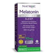 Melatonina Advanced 10 Mg   Liberación Prolongada   75 Tabs