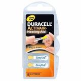 6 Pilhas Baterias A10 Pr70 Aparelho Auditivo - Duracell