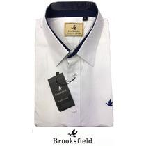 Camisa Social Brooksfield (estampada Pontinhos) + Frete Br