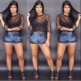 Blusa Tule Transparente Moda Blogueira Promoção Vestido Kit