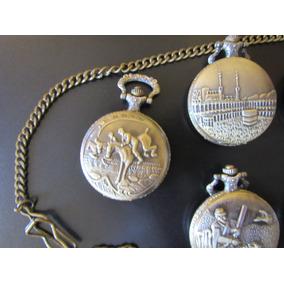 Oferta Reloj De Bolsillo Con Cadena Metalica Varios Diseños