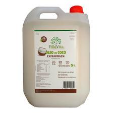 Óleo De Coco Extra Virgem (puro) 5 Litros - Prensado A Frio