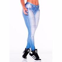 Calça Leg Feminina, Imita Jeans Estilo Panicat Lipsy Cód:503