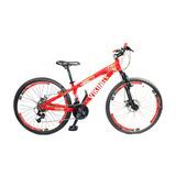 Bicicleta Vikingx Tuff 25 Freio Disco Aro Vmax Branco