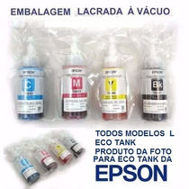 Tinta Epson L355,l365,l375,l210,l210,l455, 4 Tintas Eco Tank