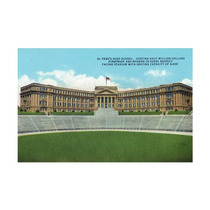 El Paso, Texas, The High School Facing The Stadium Print,