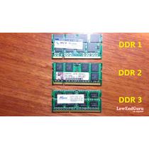 Memorias Ran De 2 Gb Ddr 1, Ddr2, Ddr3