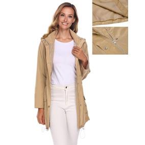 Moda Cálido Abrigo Para Mujer Diseño Acinturado