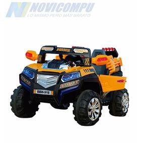 Carro Tipo Jeep A Batería Y Control Remoto 4x4 Para 2 Niños
