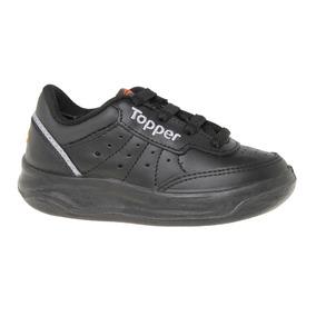 Zapatillas Topper Tennis X Forcer Kids Niño Ng/gr