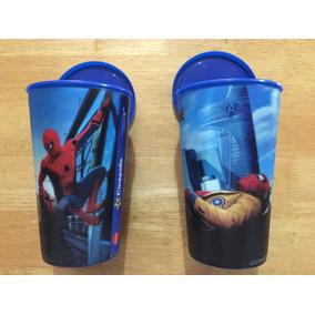 Set 2 Vasos Diferentes Película Spiderman Hombre Araña