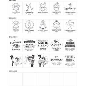 40 Vinilos Personalizados Bautismo Casamiento Egresado