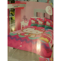 Edredon Doble Vista Individual Hello Kitty Intima