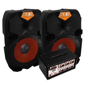Vecctronica: Super Tri-equipo De Sonido 2 Bafles+ Mezcladora