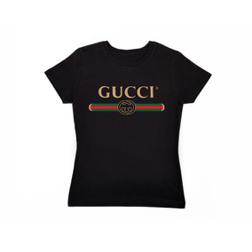 Playera Gucci Mujer Negro-gris-rosa-azul Envío Gratis