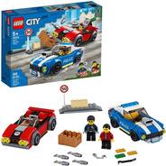 Lego City Detencao Policial Na Autoestrada 185 Pcs 60242